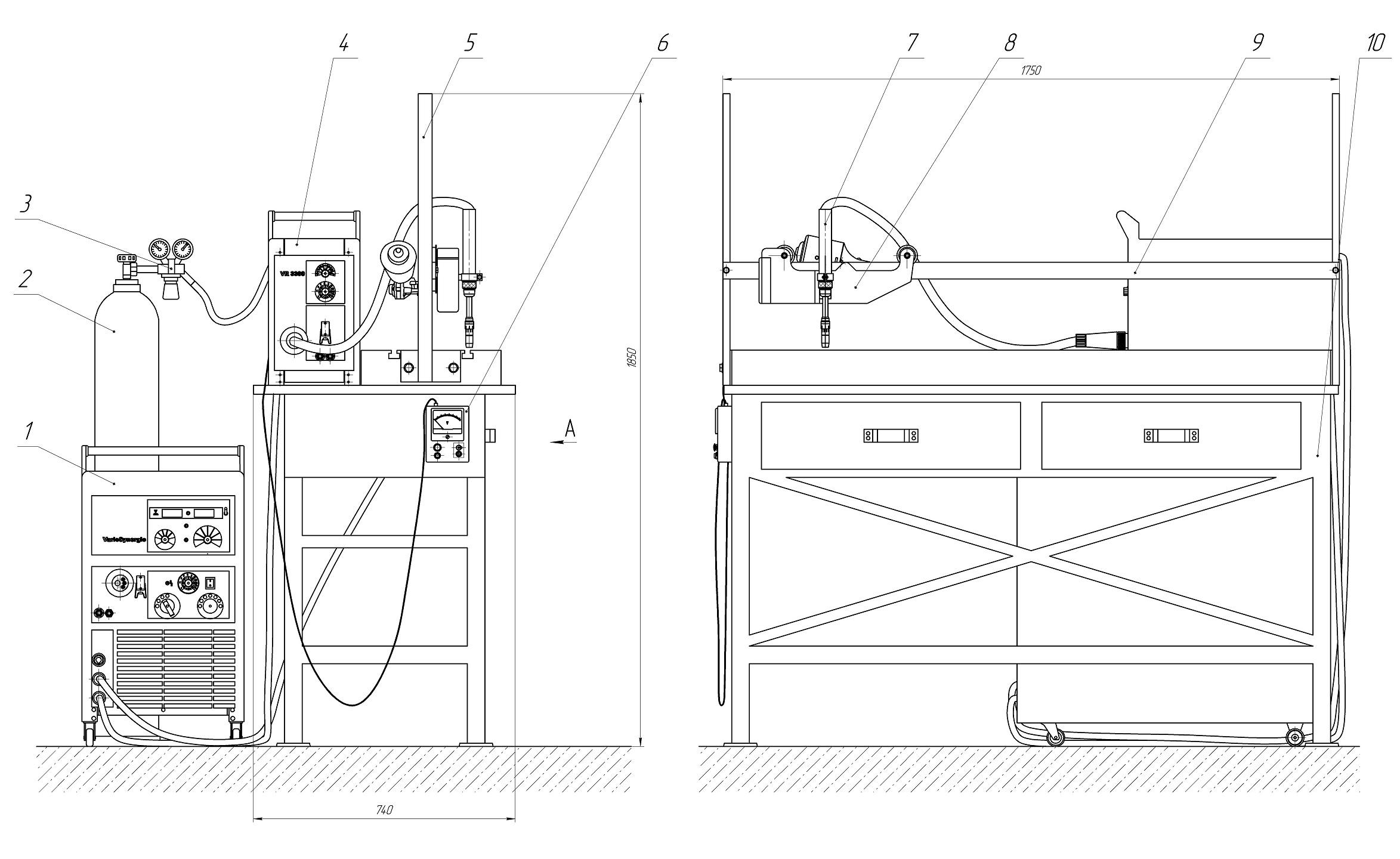 fronius,Fronius Vario Synergic, 4000-2, подаючий механізм VR-3300, подающи механизм, фрониус варио синерджик, установка для автоматической сварки