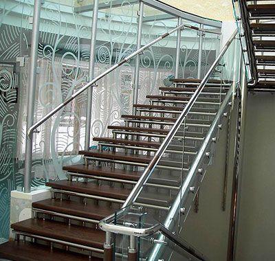 лестница, нержавеющая сталь, перила, ограждения, киев